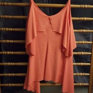 Maurices Tops - Peachy pink layer tank